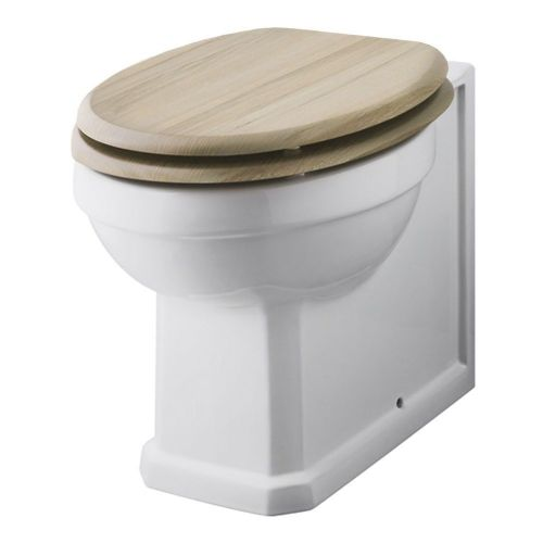 Rockingham Back To Wall Pan & Natural Walnut Wooden Seat